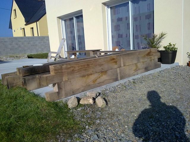 Jardinière pour terrasse  copain des copeaux